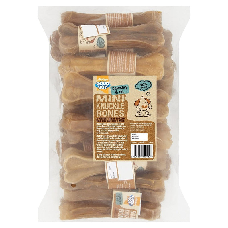 Good Boy Rawhide Mini Knuckle Bones - 20 Pack-Package Pets