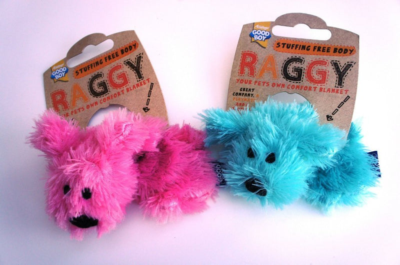 Good Boy Unstuffed Raggy Puppy Toy - Pink or Blue-Package Pets