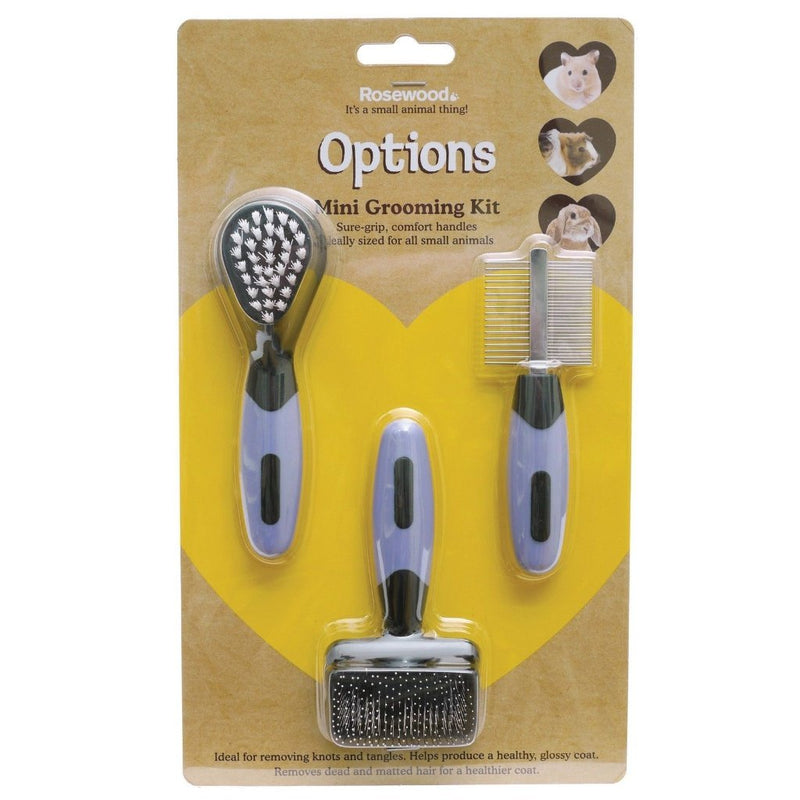 Grooming Comb Brush Set For Small Animals-Package Pets