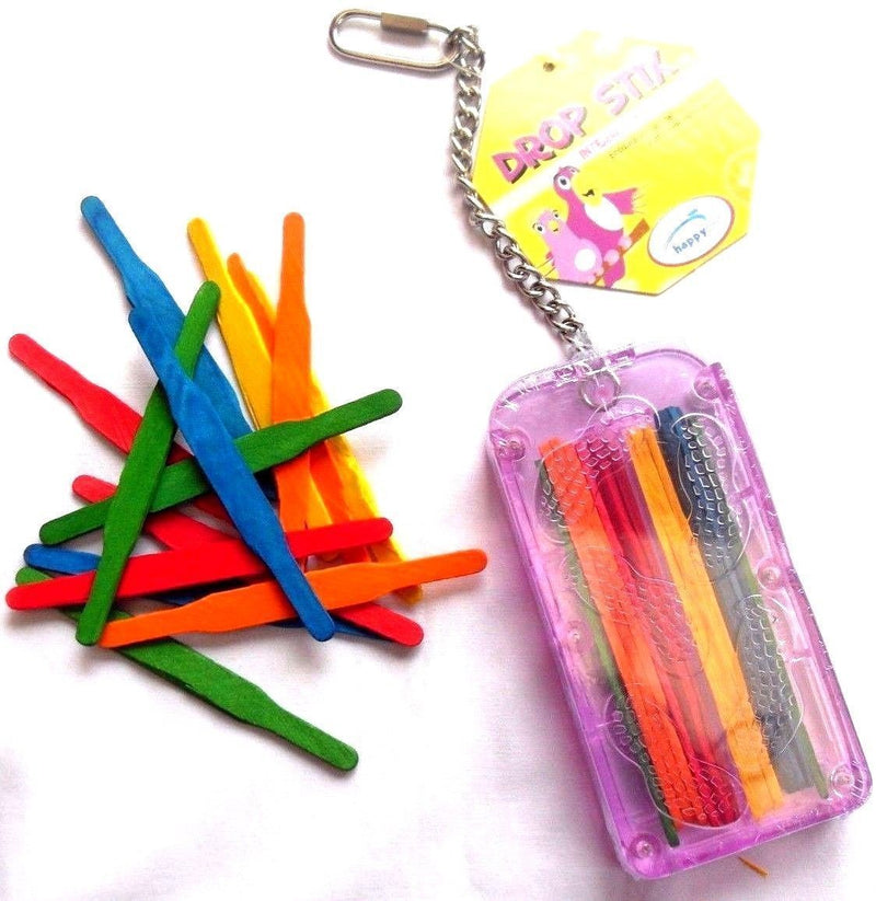 Happy Pet Drop Stix & Refills Caged Bird Toy-Package Pets