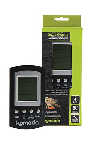 Komodo Combined Digital Thermometer and Hygrometer-Package Pets