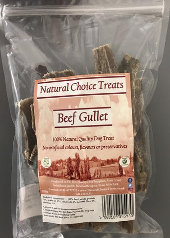 Natural Choice 100% Natural Raw Dog Treat - Beef Gullet-Package Pets