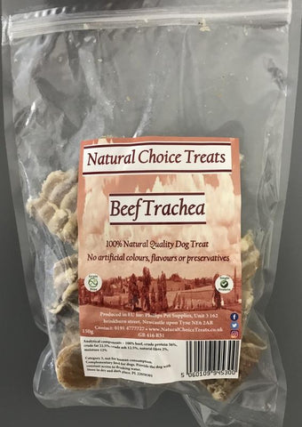 Natural Choice 100% Natural Raw Dog Treat - Beef Trachea-Package Pets