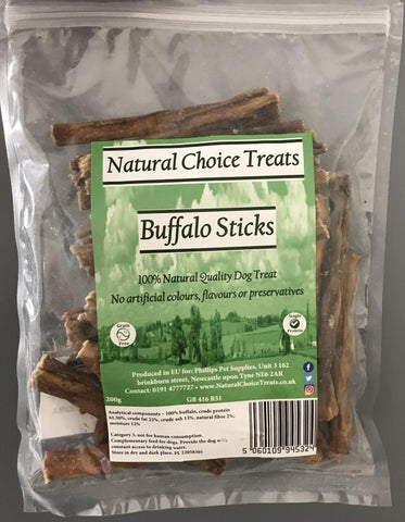 Natural Choice 100% Natural Raw Dog Treat - Buffalo Sticks-Package Pets