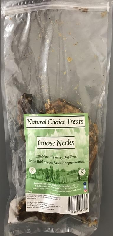 Natural Choice 100% Natural Raw Dog Treat - Goose Necks-Package Pets