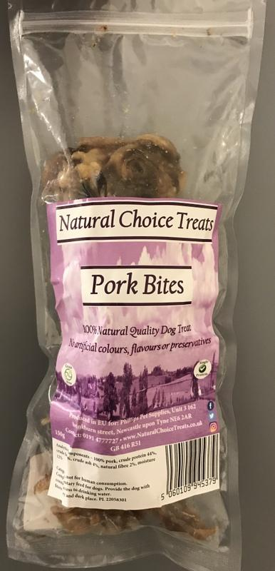 Natural Choice 100% Natural Raw Dog Treat - Pork Bites-Package Pets