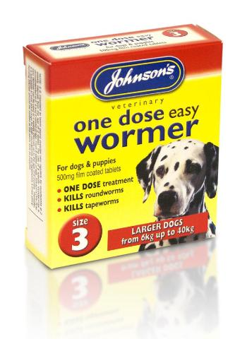 Johnson's Worming Tablets For Large Dogs - Size 3