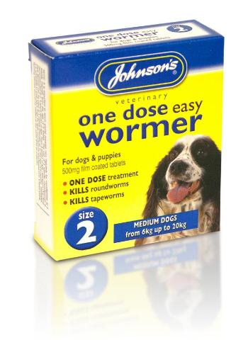 Johnson's Worming Tablets For Medium Dogs - Size 2