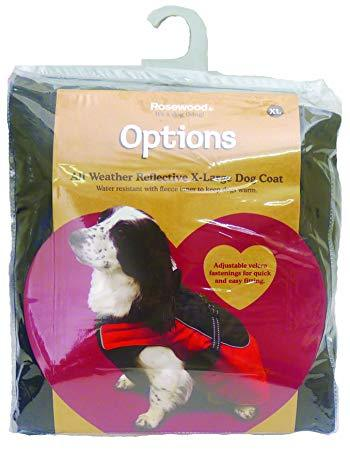 Rosewood All Weather Reflective Red Dog Coat-Package Pets