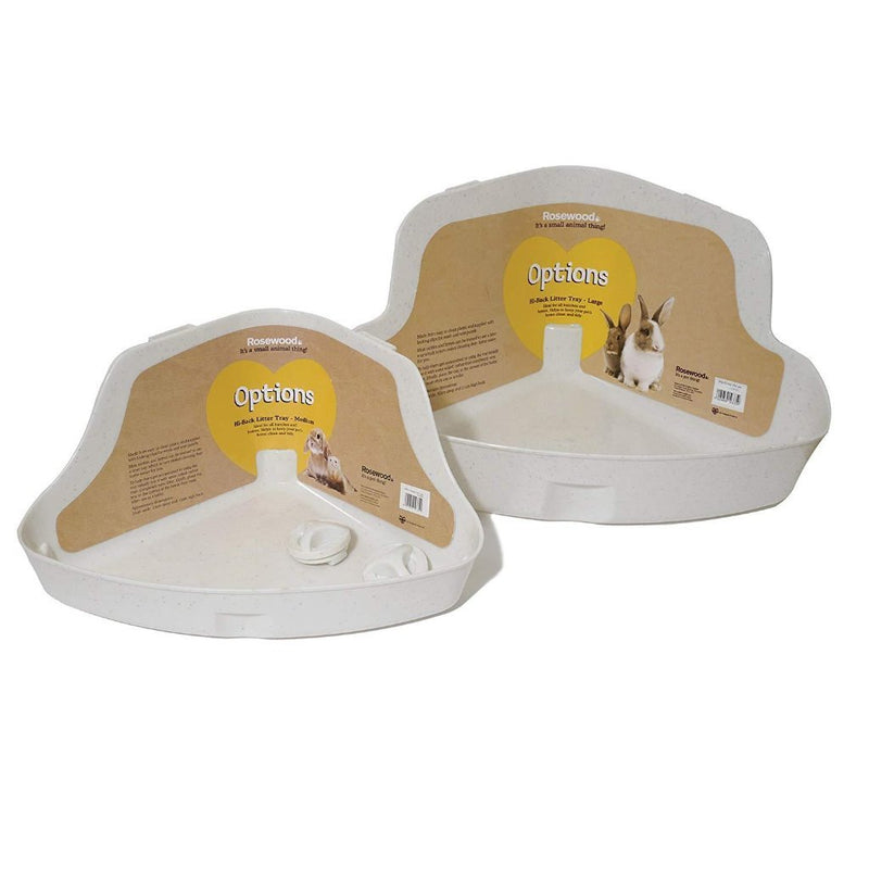 Rosewood Corner Litter Tray For Small Animals - 2 Sizes-Package Pets