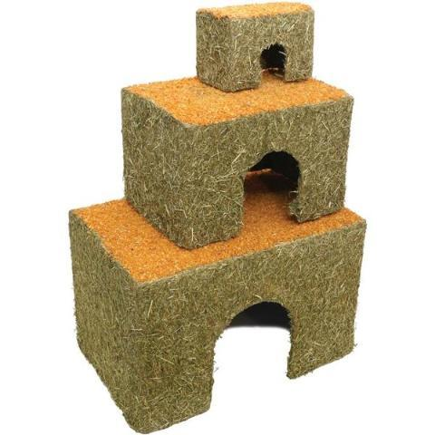 Rosewood Edible Carrot Top Cottages For Rabbits, Guinea Pigs & Hamsters-Package Pets