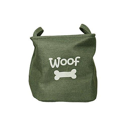 Rosewood Forest Green Canvas Pet Toy Basket-Package Pets