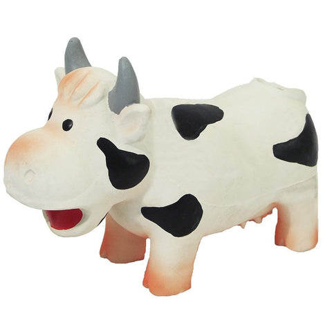 Rosewood Grunters Latex Cow Dog Toy-Package Pets