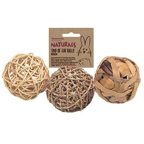 Rosewood Natural Fun Balls Toy For Rabbits & Guinea Pigs-Package Pets