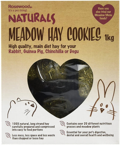 Rosewood Naturals Meadow Hay Cookies - 1 kg-Package Pets