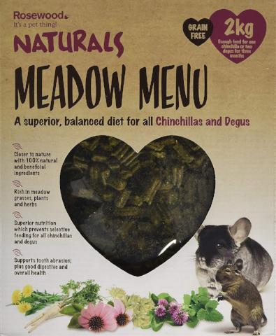 Rosewood Naturals Meadow Menu Chinchilla/Degu Food - 2 kg-Package Pets