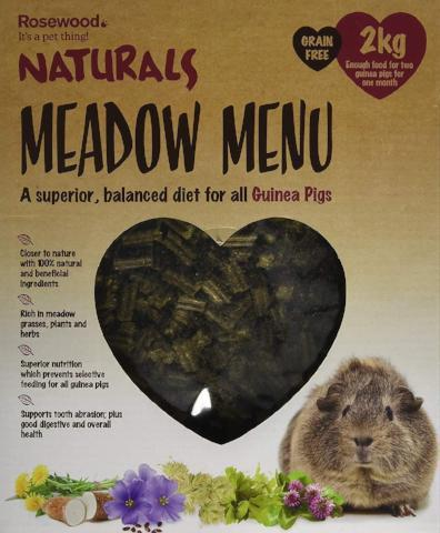 Rosewood Naturals Meadow Menu Guinea Pig Food - 2 kg-Package Pets