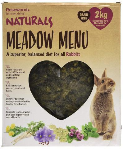 Rosewood Naturals Meadow Menu Rabbit Food - 2 kg-Package Pets