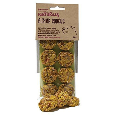 Rosewood Naturals Small Animal Shrimp Cookies 80g-Package Pets