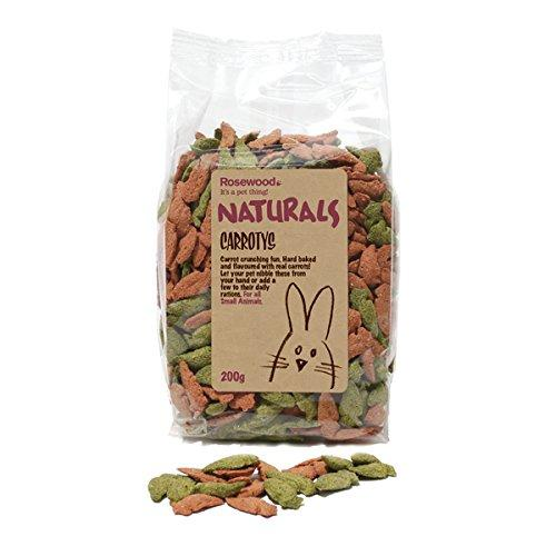 Rosewood Organic Dry Carrot Treats For Small Animals-Package Pets
