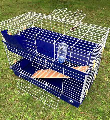 Large Double Indoor Guinea Pig & Rabbit Cage - 100 cm