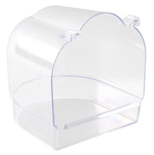 Trixie Clear Plastic Attachable Bird Bath - 13 x 15 x 14 cm-Package Pets