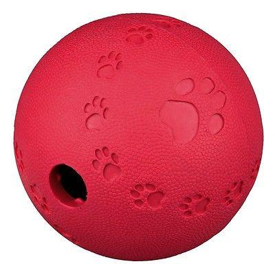 Trixie Dog Activity Snack Ball Red, Green or Blue-Package Pets