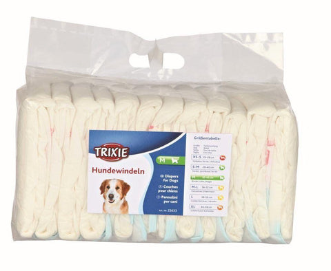 Trixie Female Disposable Dog Nappies - 5 Sizes-Package Pets