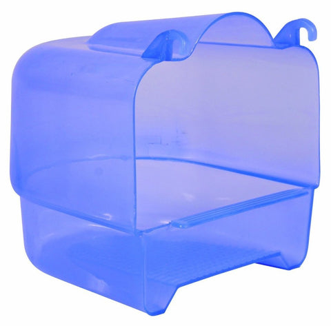 Trixie Large Blue Attachable Bird Bath - 15 × 16 × 17 cm-Package Pets