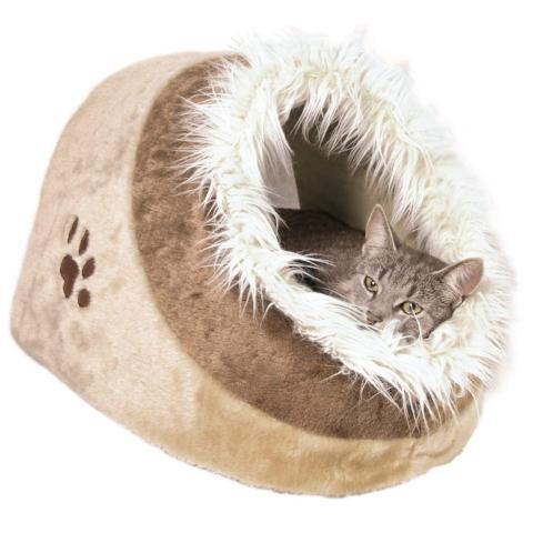 Trixie Minou Cuddly Cat Cave - Caramel & Brown-Package Pets