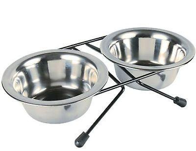 Trixie Raised Stainless Steel Bowl Set With Stand - 2 Sizes-Package Pets