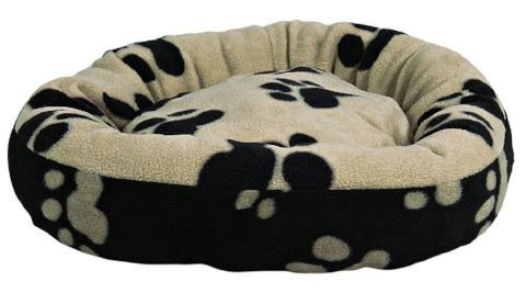 Trixie Sammy Cuddly Bed for Cats & Dogs - Beige & Black-Package Pets