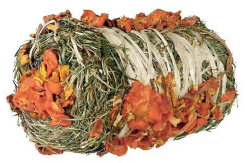 Trixie Small Animal Hay Bale with Pumpkin & Carrot-Package Pets