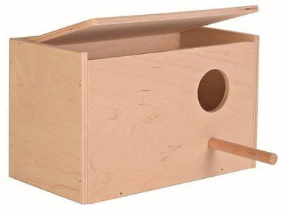 Trixie Wooden Nesting Box With Perch & Opening Top-Package Pets