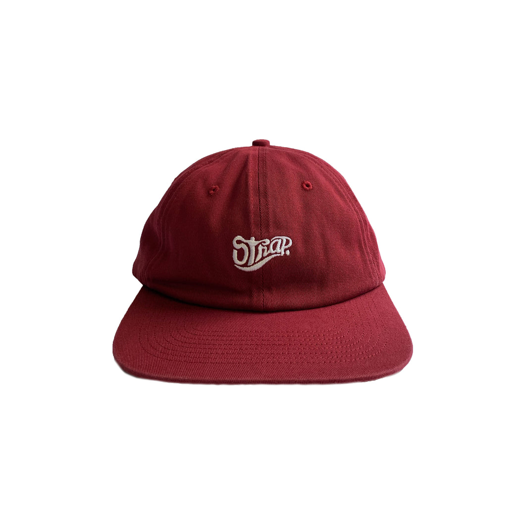 UNSTRUCTURED STAPLE HAT MAROON (WASHED)