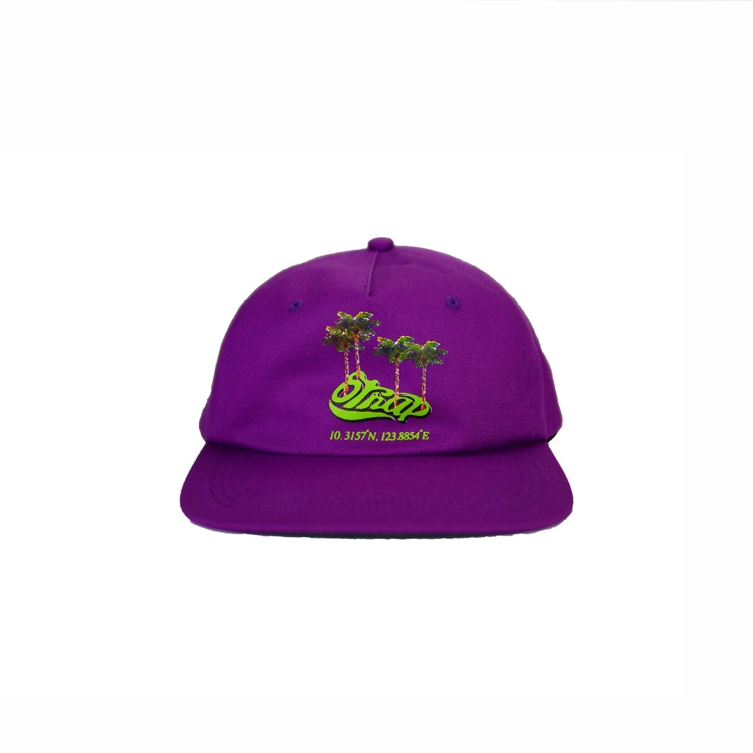 TROPIC UNSTRUCTURED HAT PURP