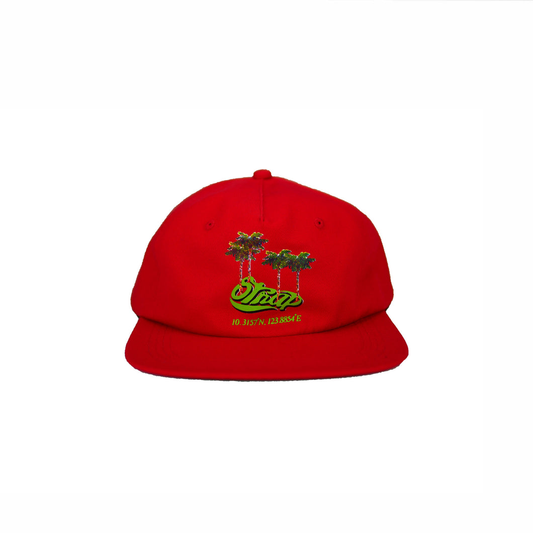 TROPIC UNSTRUCTURED HAT RED