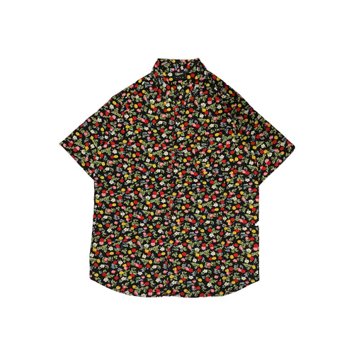 CUBAN BLACK FLORAL SHIRT