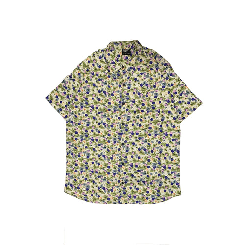 CUBAN WHITE FLORAL SHIRT