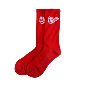 STAPLE SOCK RED