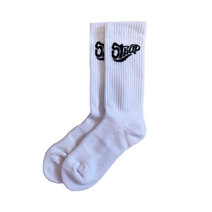 STAPLE SOCK WHITE