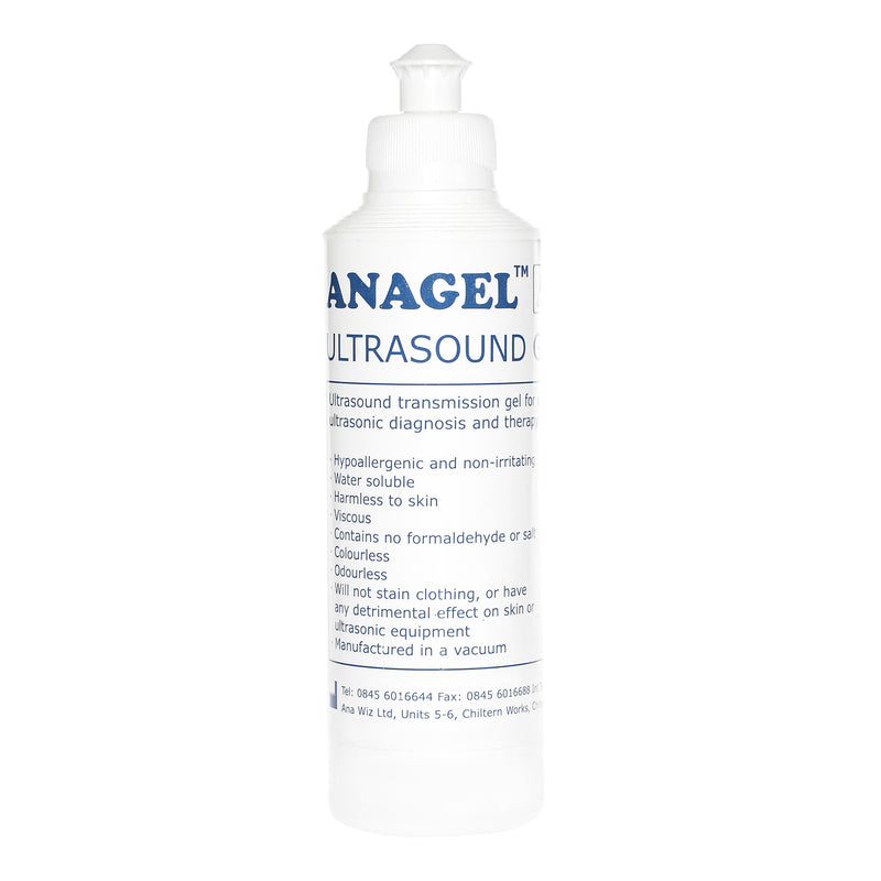 Anagel ultrasound transmission gel is used for diagnostic and therapeutic medical ultrasound.