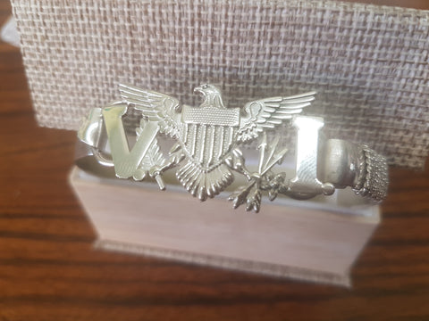 Men's sterling silver (925) VI flag bracelet.