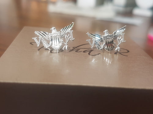 925 Sterling silver VI eagle earrings.