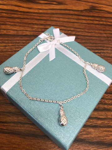 Sterling silver Pineapple Anklet.