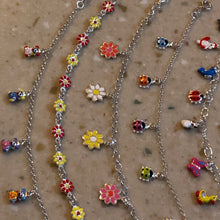 Sterling silver(925) charms girl's bracelet.