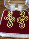 10k and 14k Gold Swirly-Curly Earrings