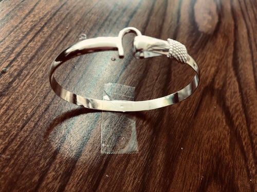 6 mm Sterling silver (925)hook bracelet .