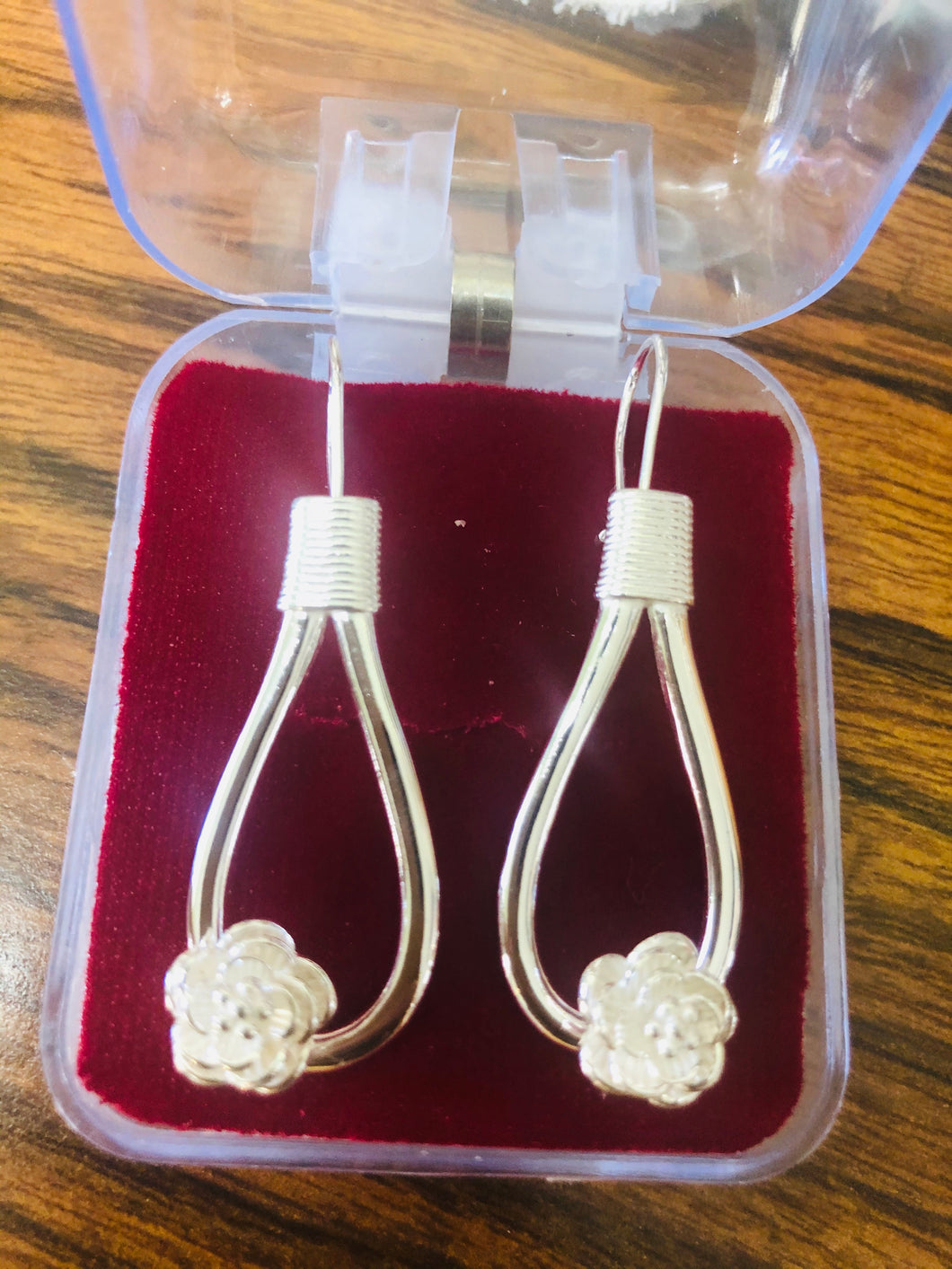 Sterling silver Flower Knot earrings