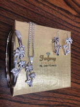 Sterling silver (925) palms tree set.